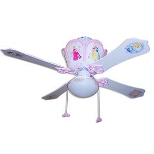 New PRINCESS PRINCESSES CASTLE Disney Ceiling Fan 42/""