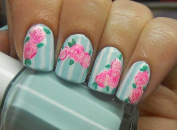 Nail Art Flower Designs Videos Step By Step Nail Art Designs