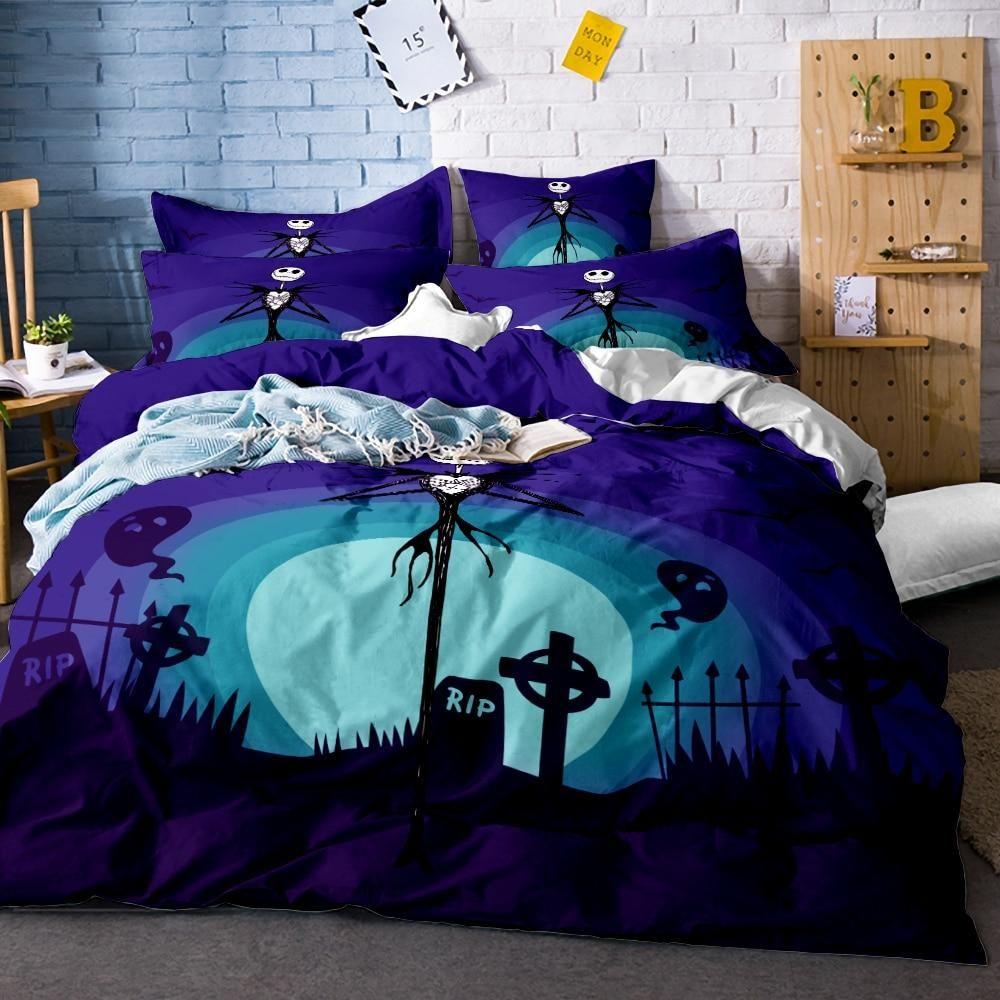 Nightmare Before Christmas Jack Skellington Bedding Bed Duvet Covers Christmas Bedroom Nightmare Before Christmas