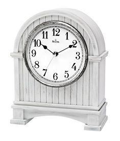 Pembroke Antique White Mantel Clock White Mantel Clocks Clock Mantel Clock