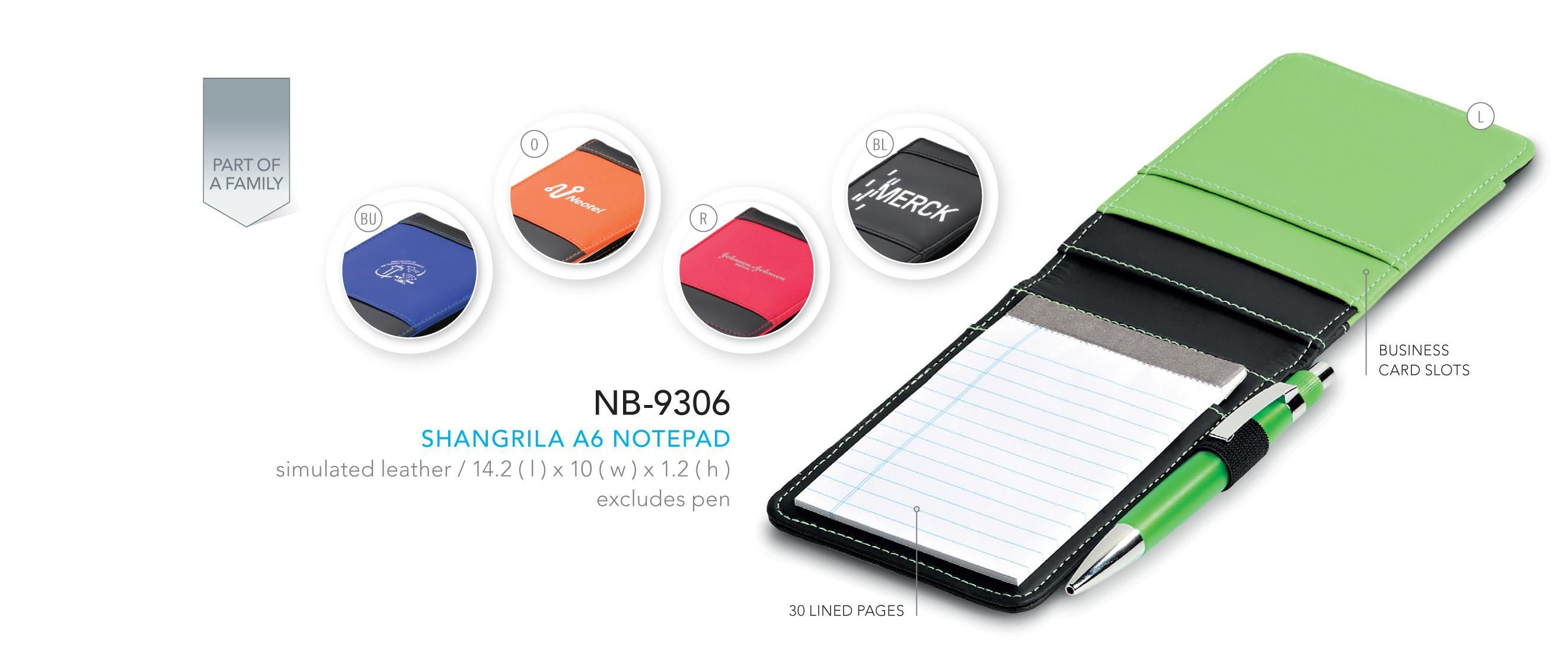 Shangrila A6 Notepad Corporate gifts, Gift solutions, Gifts