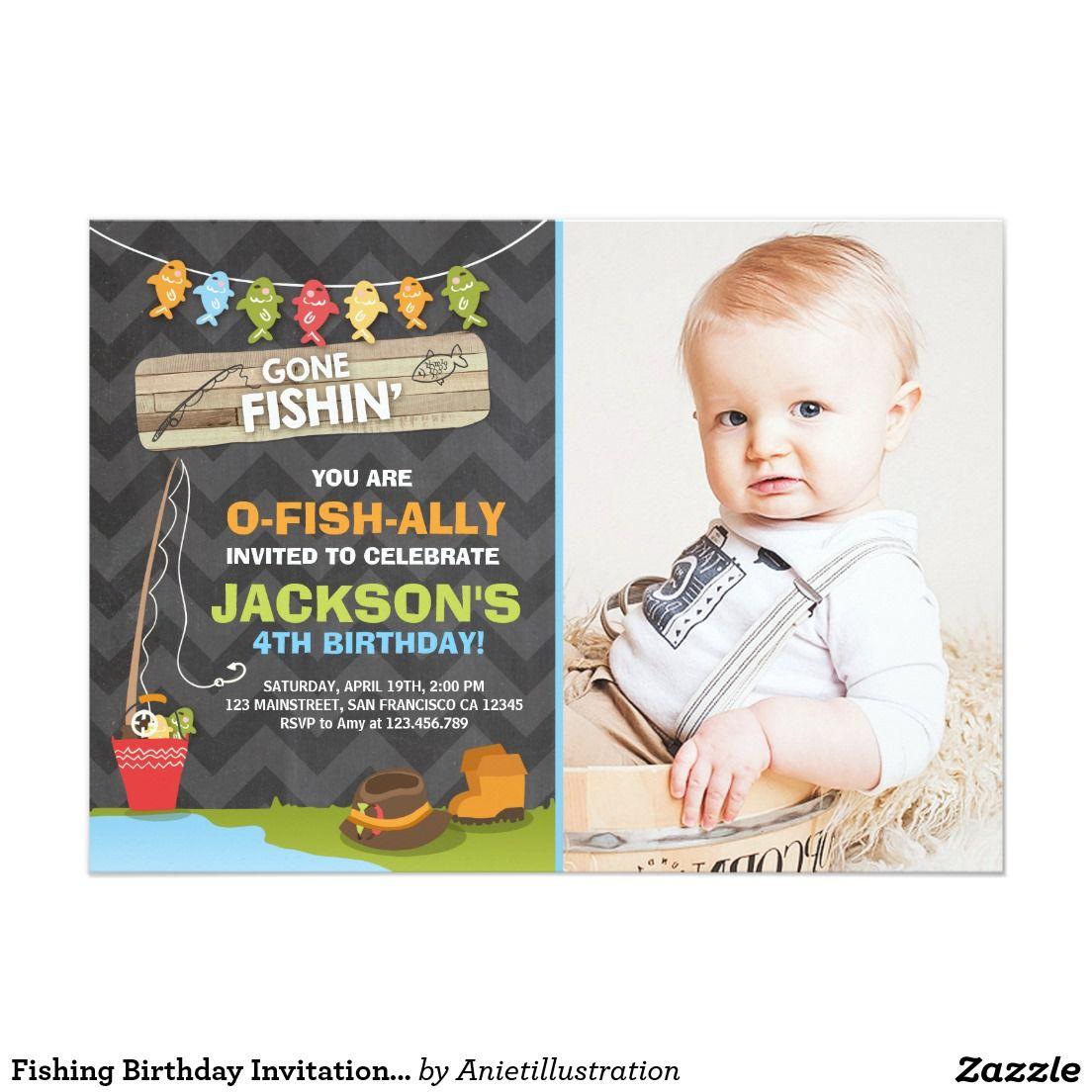 Fishing Birthday Invitation Fishing party Boy | Dawson\'s First ...