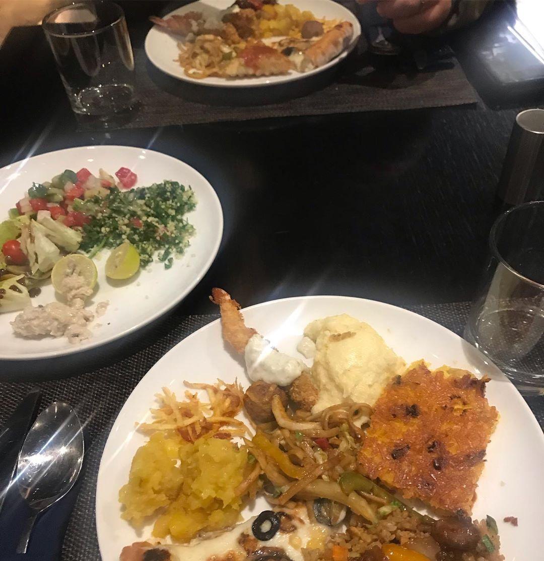 Buffe resturan in parq sana center🍽🥰 resturan#buffet#parq#classic#chic#buffet#asia#italia#seafood#steak#kabab#beef#meat#resturan#mix#salad#dessert#lovelyplace#unique#iran#tehran#sana#andarzgoo