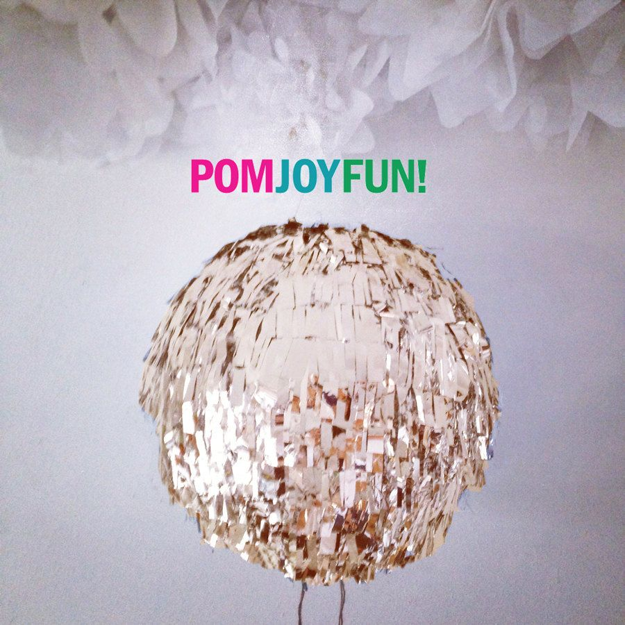 Gender Reveal Fringe Piñata | Gold Birthday Piñata | Baby Shower Piñata | Fringe Wedding Pinata | Gold Gender Reveal by PomJoyFun on Etsy