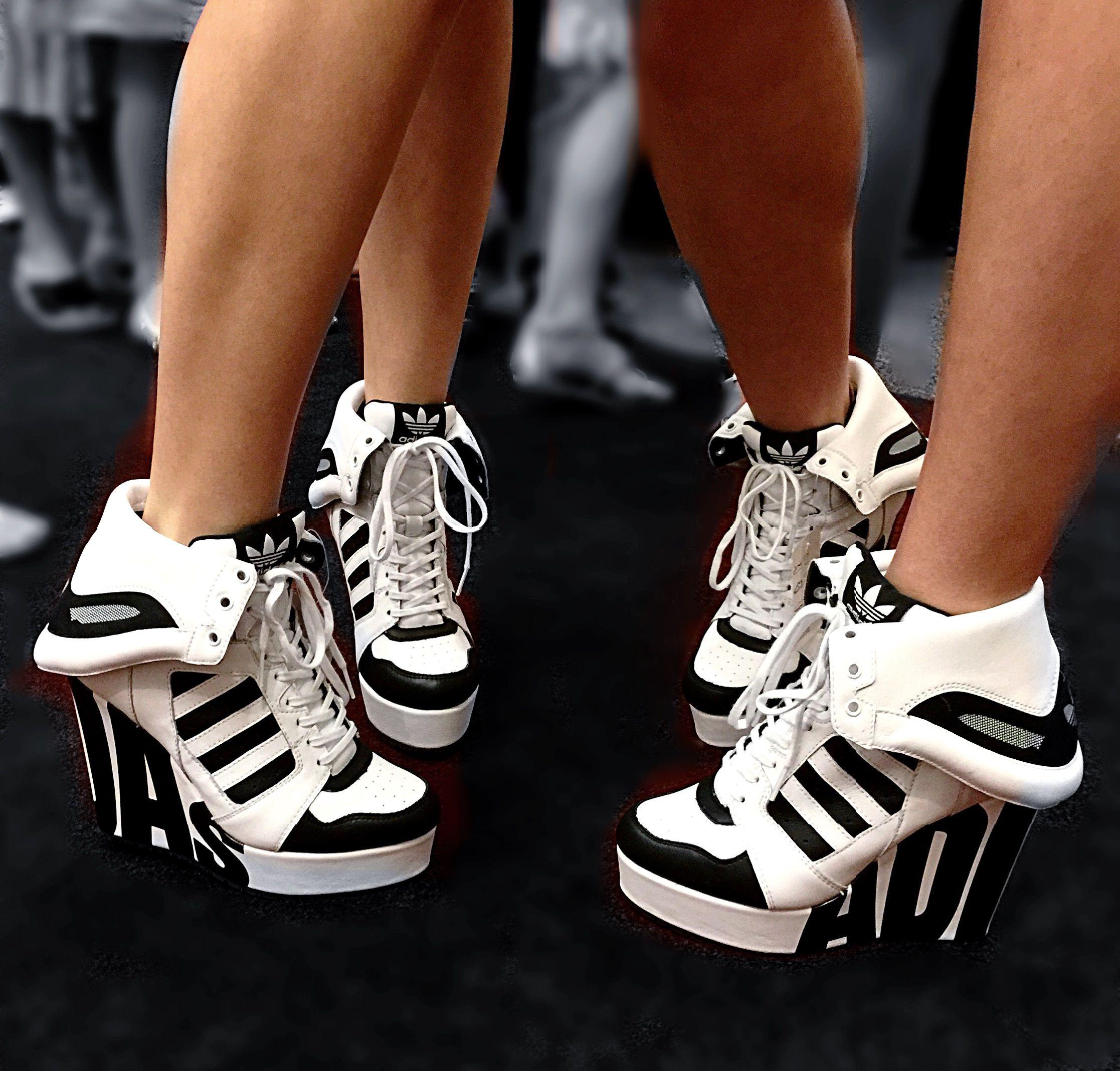May 29:  These are  gymnastics coach approved high heels!  #adidas #highheels #gymnastics