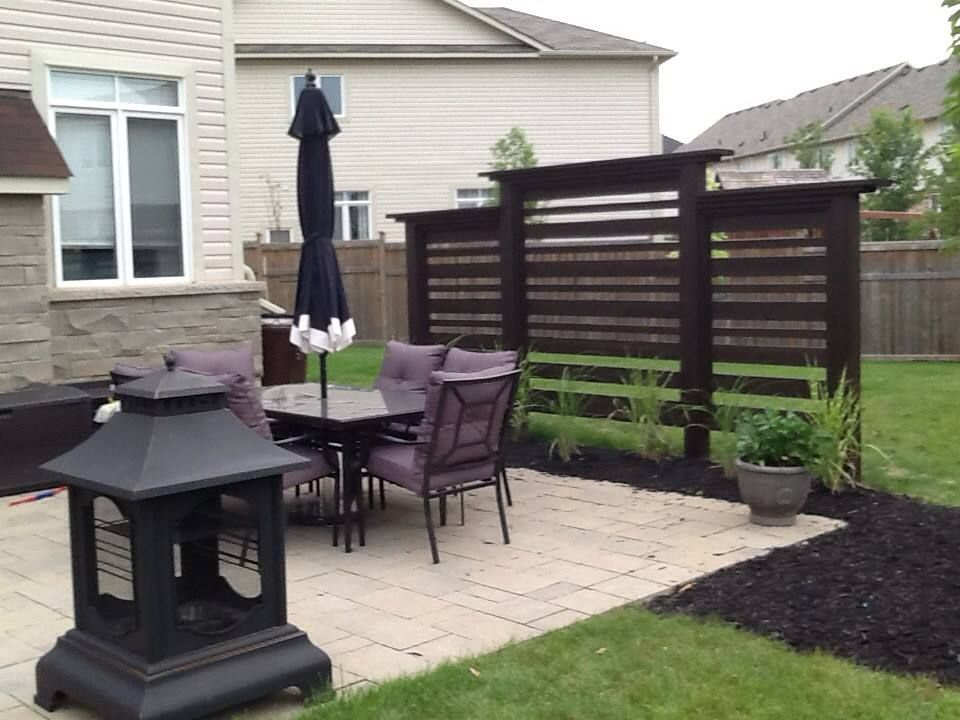 We built this privacy screen ourselves for a modern look for Privacy screen ideas for backyard