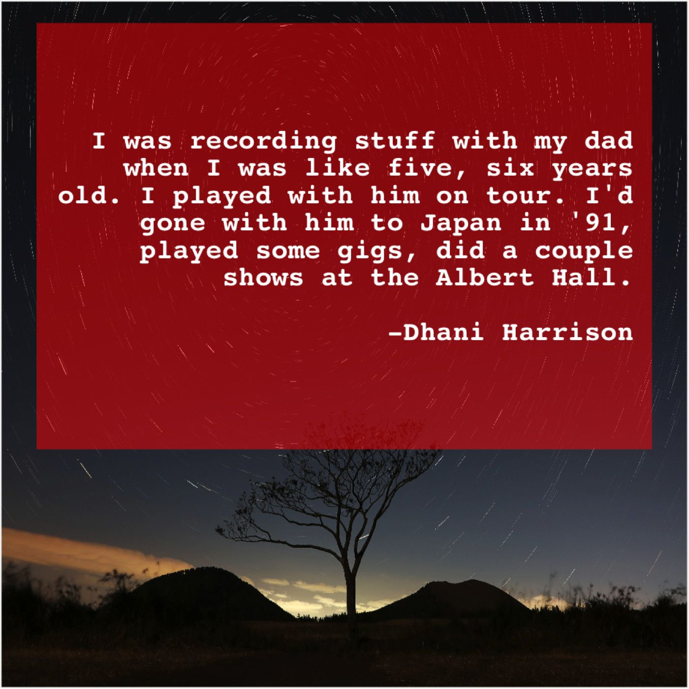 Dhani harrison i was recording stuff with francis