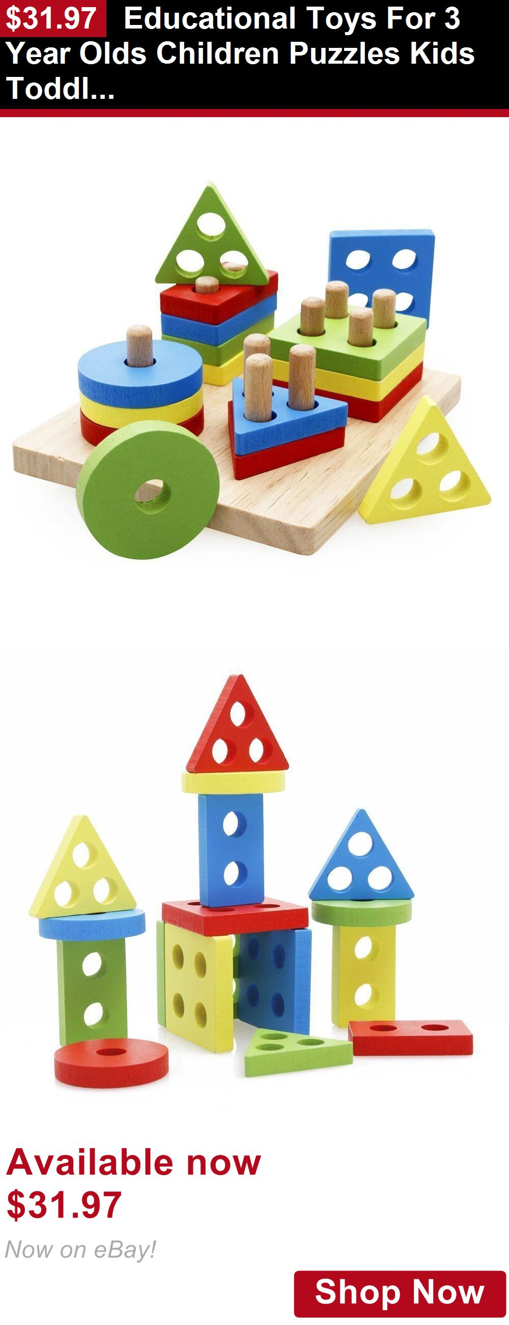 Blocks And Sorters Educational Toys For 3 Year Olds Children