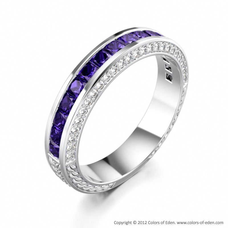 and diamond in men accent effy w t s ring tanzanite mens ct pin