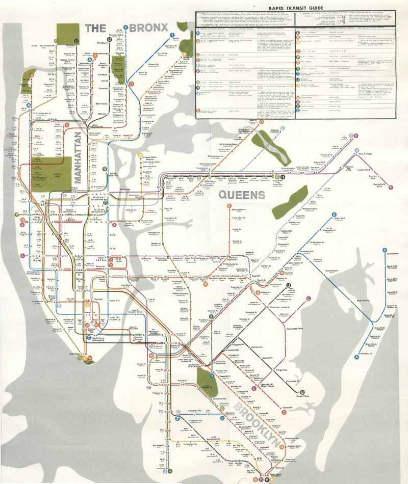 Subway Map 1970s.This Cool Map From The 1970s Shows What Nyc S Subway System Could