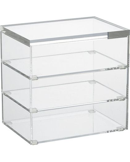 Get It: Stacking Boxes Boxes that stack together for organizing lots of small parts, such as mending supplies. format stacking boxes set of 3 Brand: CB2 Price: $29.95 Store: CB2