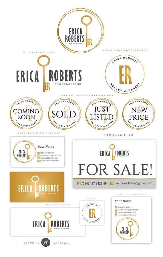 Real Estate logo design, Realtor logo, Custom initials key logo, Key ...