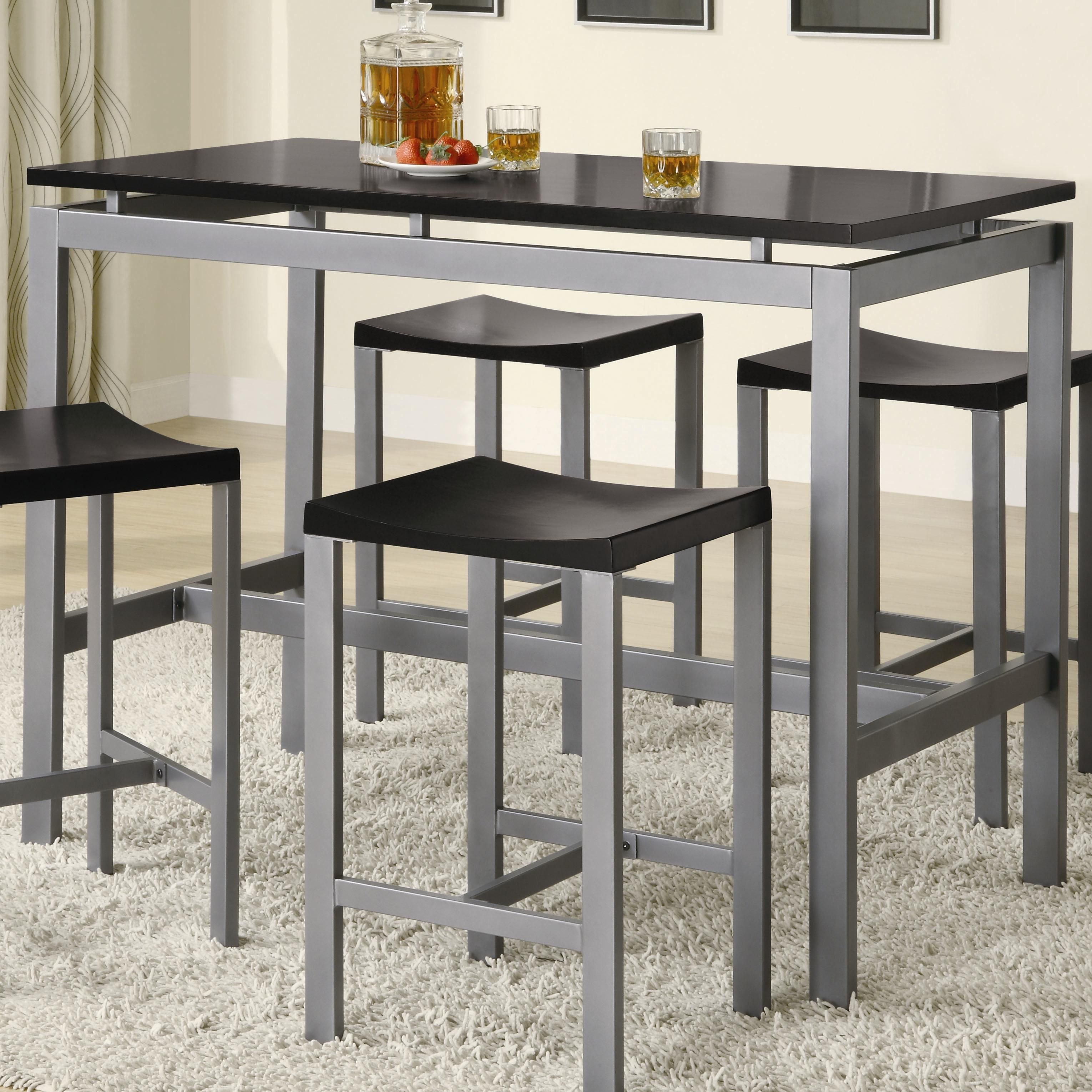 Small metal kitchen table - Minimalist Counter Height Dining Table Set By True Contemporary
