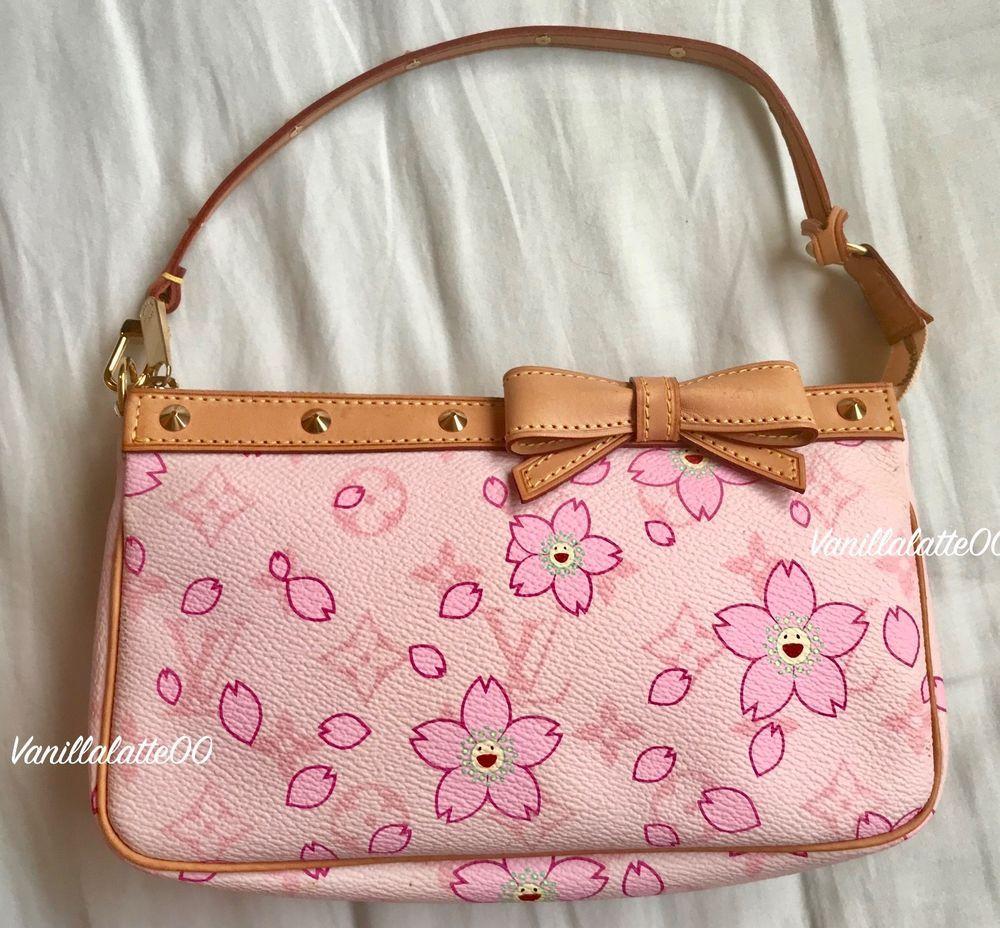 62a9b804b84e Authentic Louis Vuitton Cherry Blossom Taskahi Murakami Pochette ...