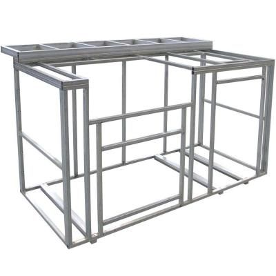 Cal Flame 6 Ft Outdoor Kitchen Island Frame Kit With Bartop Kd F6016 The Home Depot Kitchen Island Frame Outdoor Kitchen Island Outdoor Kitchen