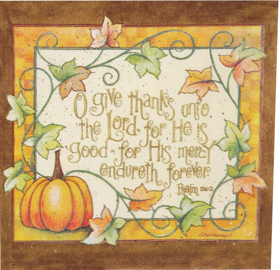 Thanksgiving napkins Inspirational scripture, Holiday