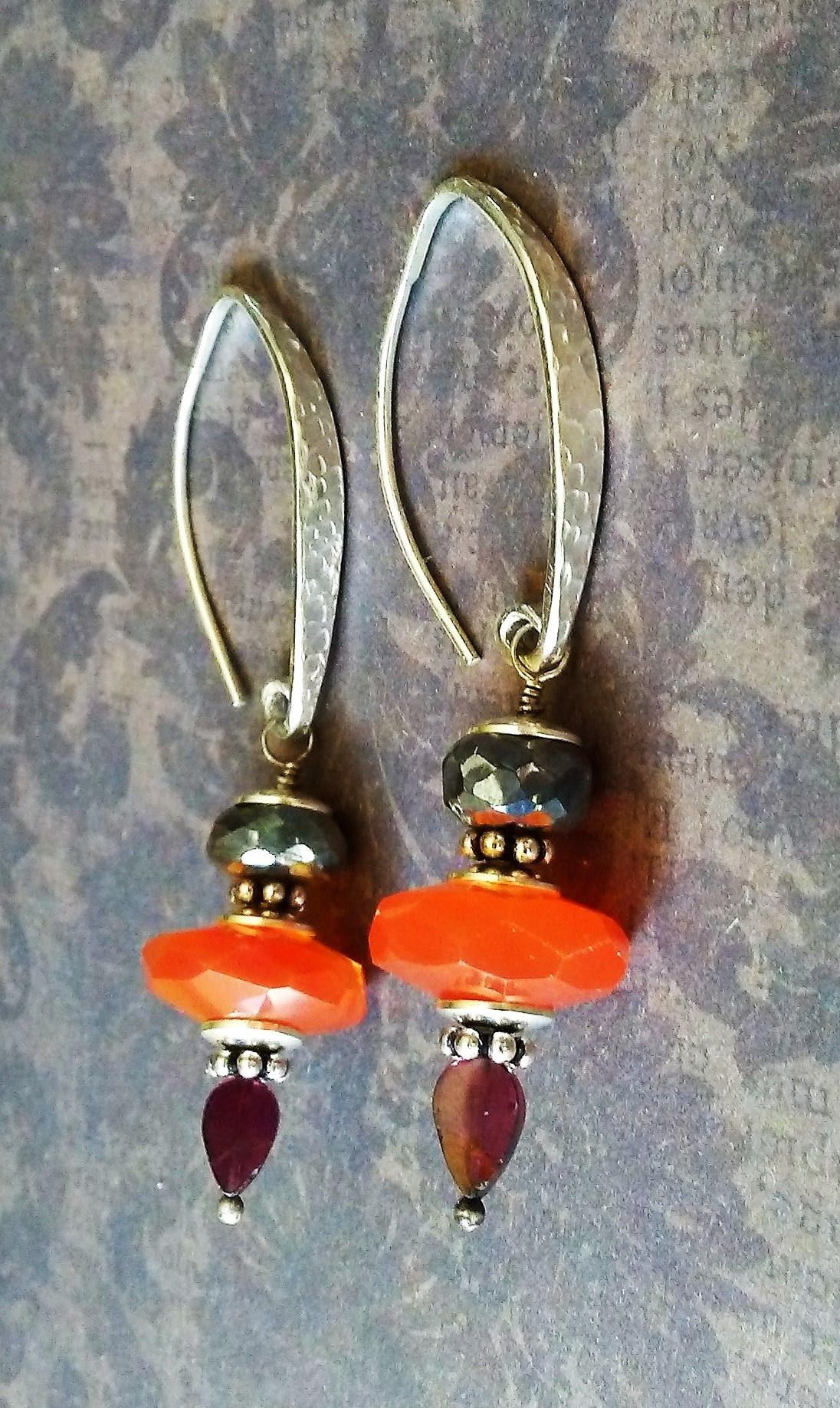 products coralized collections carnelian orange green earrings