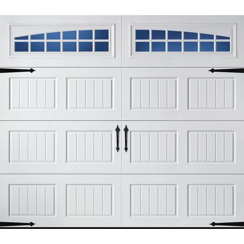 Reliabilt 8 Ft X 7 Ft 850 Series Insulated Garage Door With Windows Single Garage Door White Garage Doors Garage Door Panels