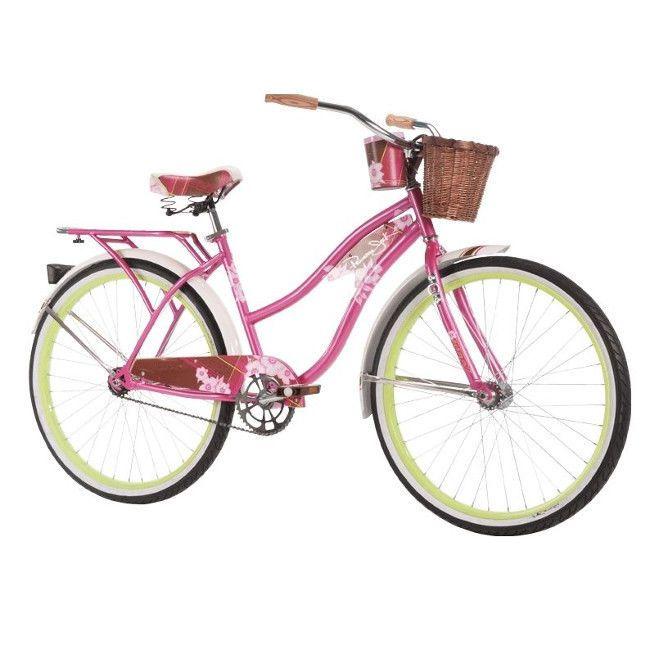 Womens Beach Cruiser Bike Vintage Ladies Bicycle City 1 Speed Basket Pink 26 Huffy Vintage Cruiser Bike Bicycle Women Beach Cruiser