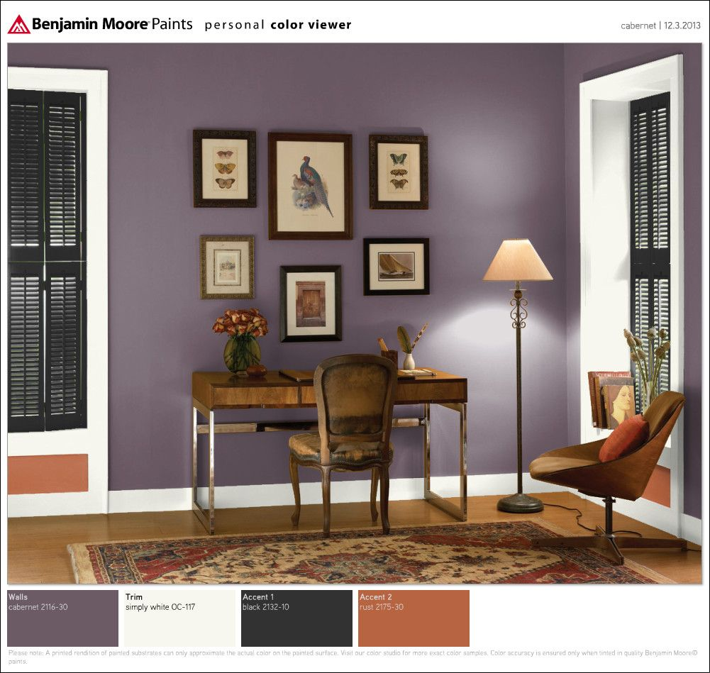 benjamin moore cabernet lovely home office colors on benjamin moore office colors id=95439