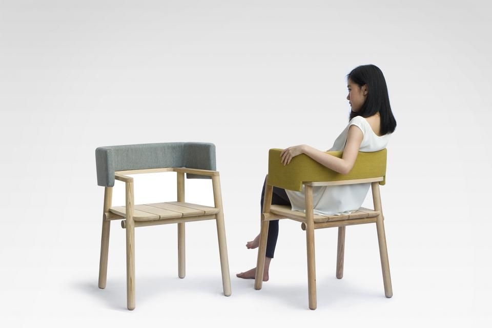 chair design bangkok double blinds for hunting at the salone del mobile based designers present a new where armrests get all attention