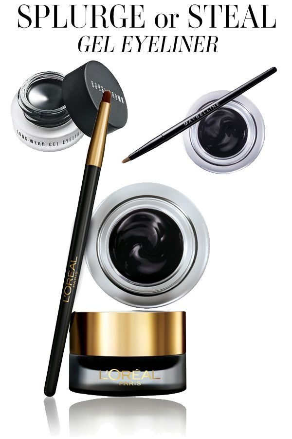 Maybelline Gel Eyeliner is good for beginners AND L'Oreal is exactly like Bobbi Brown