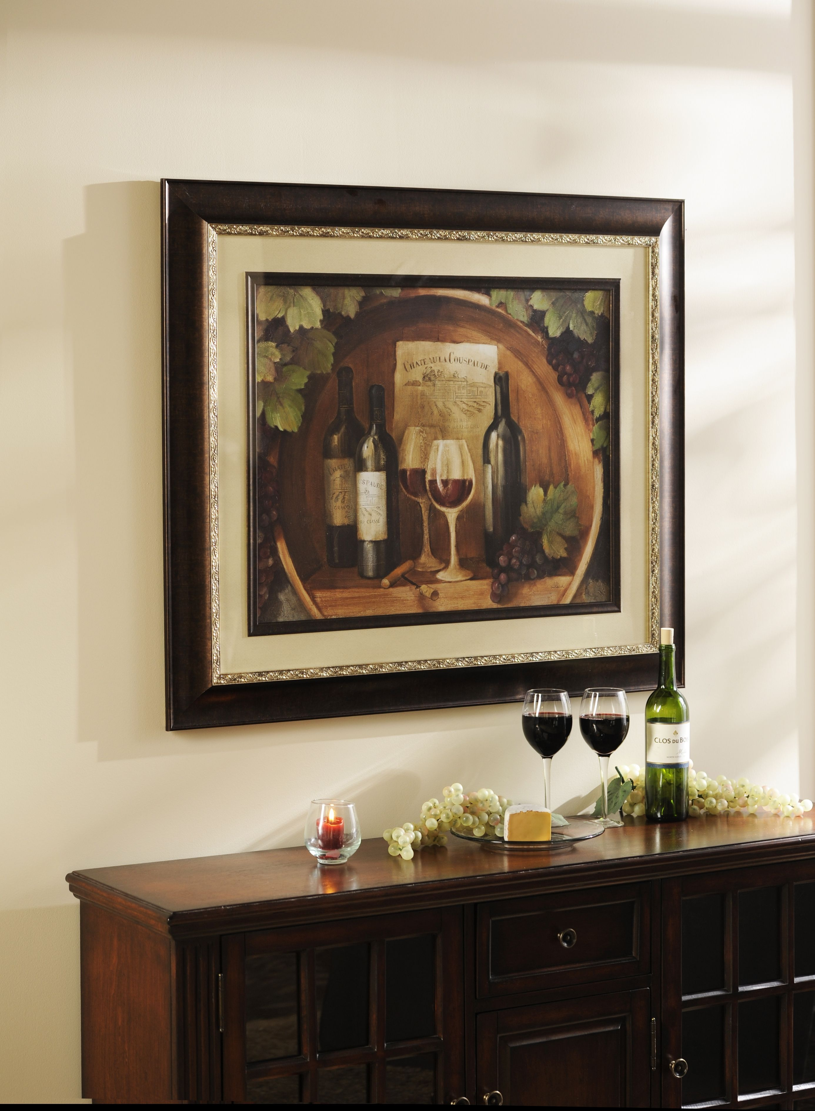 At The Winery Framed Art Print | Decoración