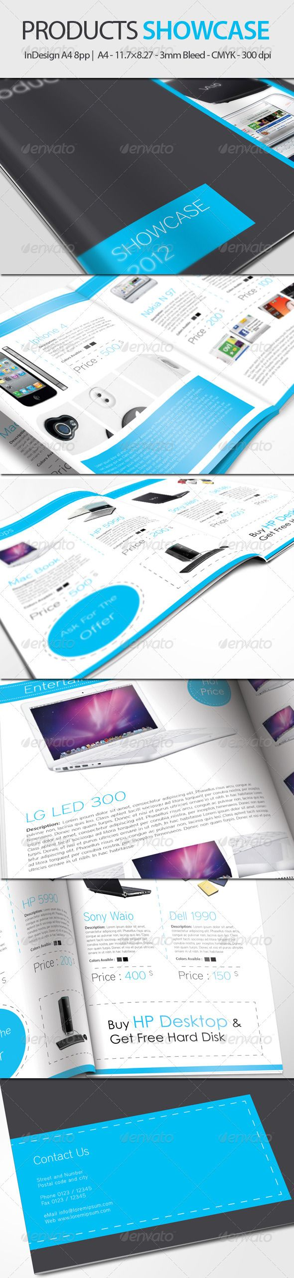 Products Showcase - InDesign A4 8pp | Catálogo, Editorial y Revistas
