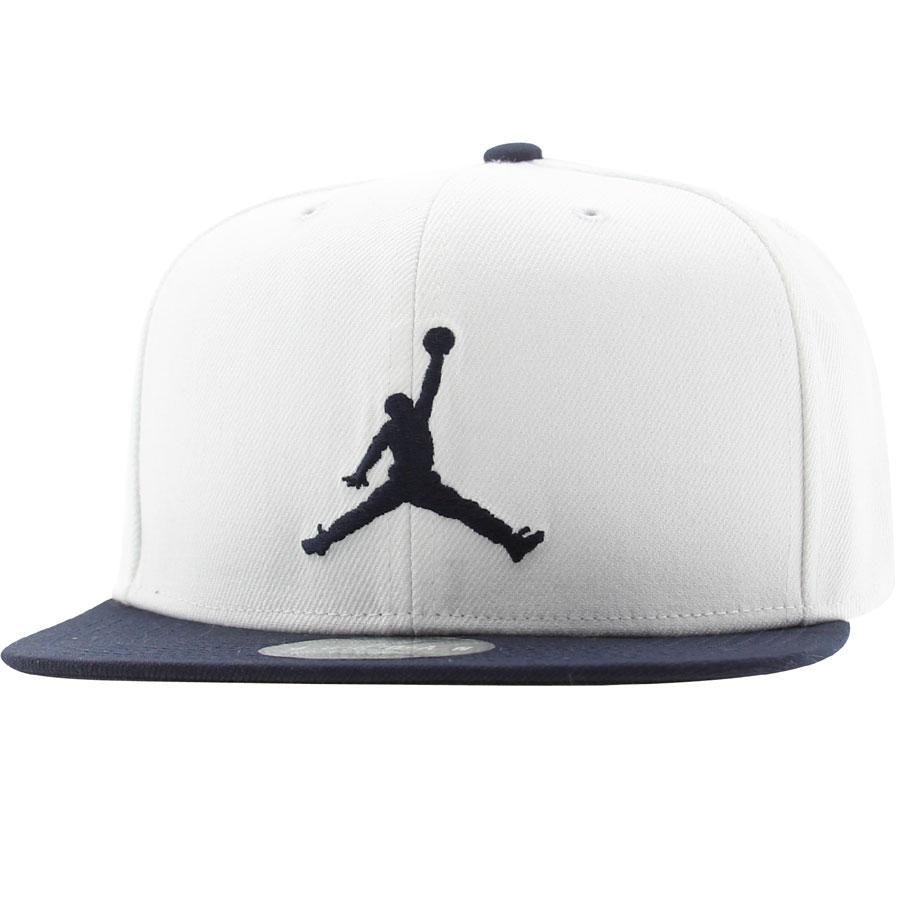 air jordan jumpman linen snapback hat (white/black)