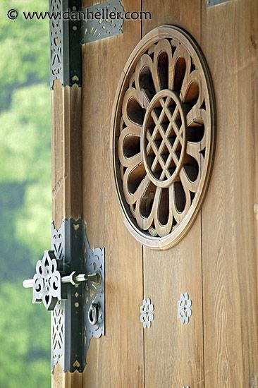 Entry door to the Meiji Shrine, Tokyo, Japan. It is a Shinto shrine that is dedicated to Emperor Meiji and his wife, Empress Shōken.