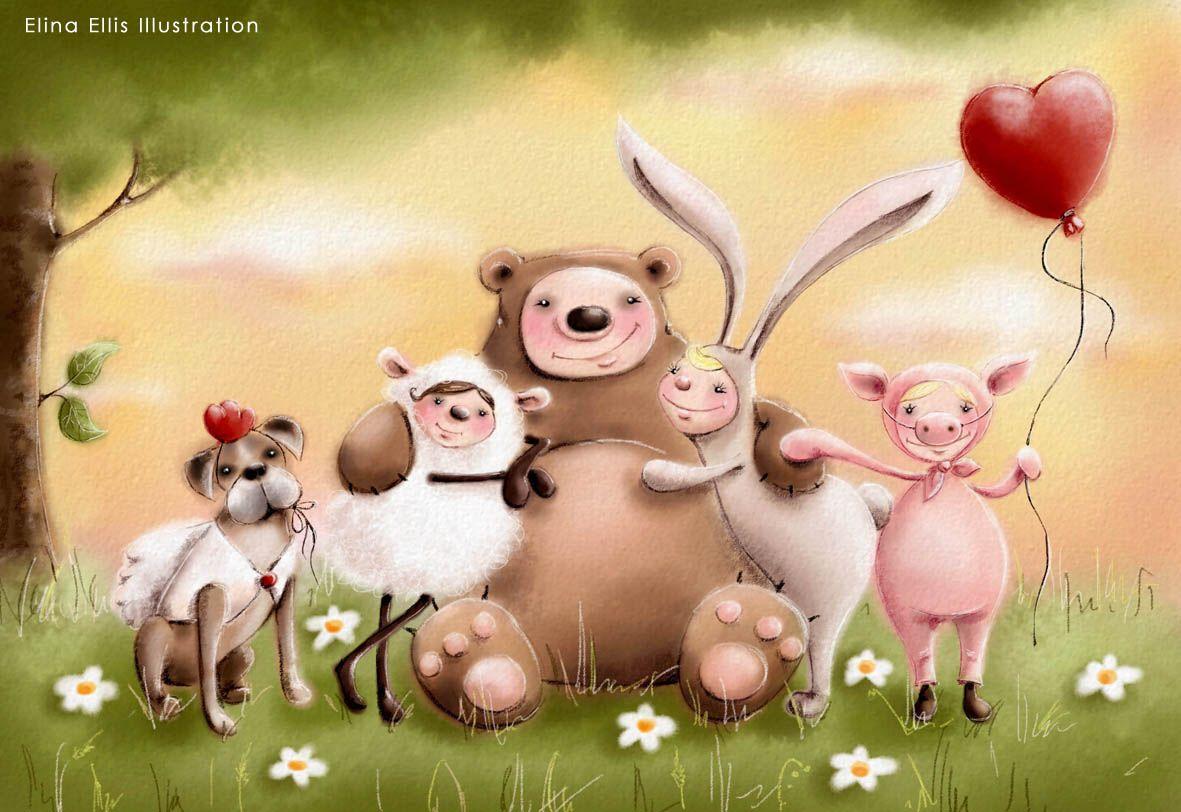 Позитивные картинки для открыток, открытки любви