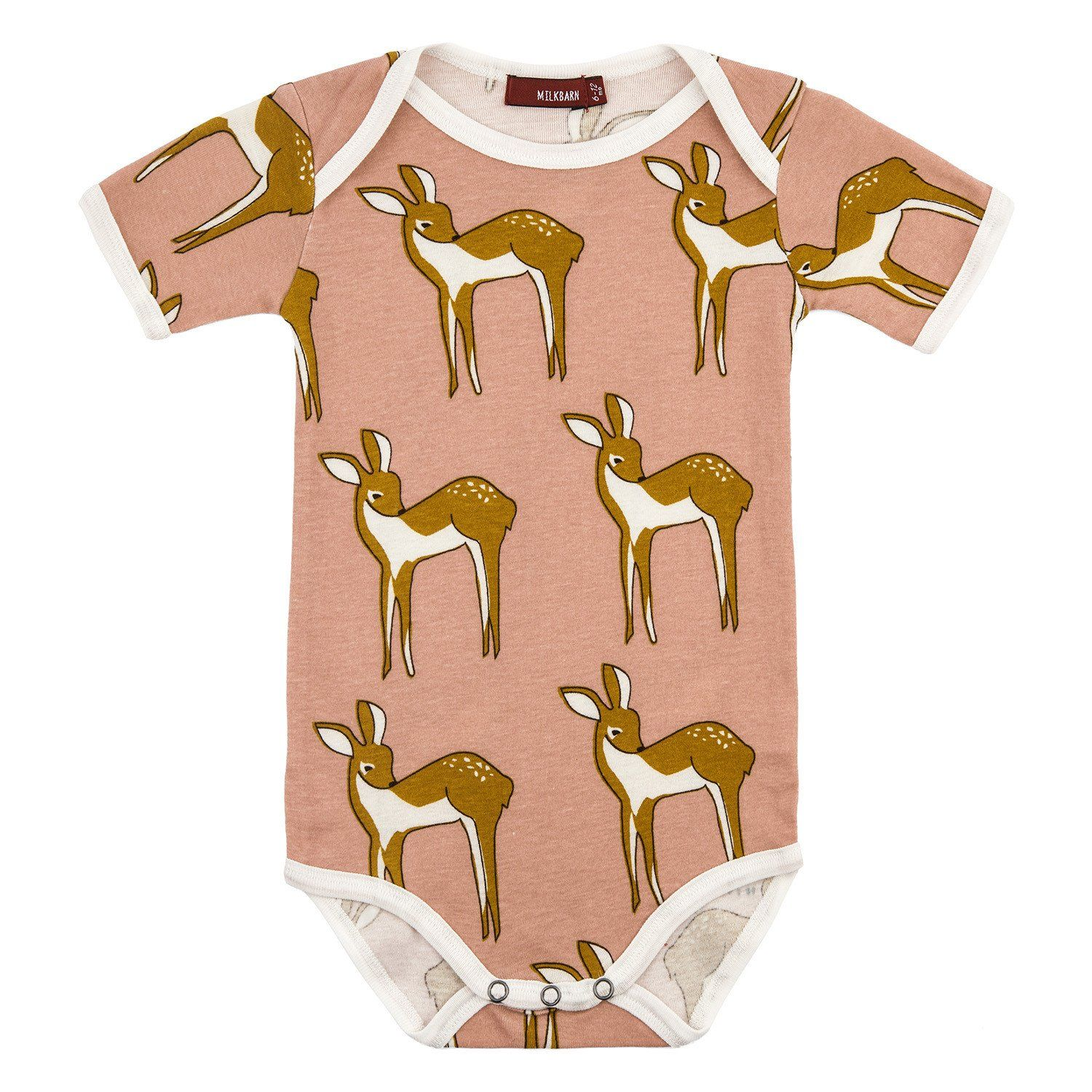 Organic Cotton Short Sleeve Onesie - Rose Doe | Stylish ...