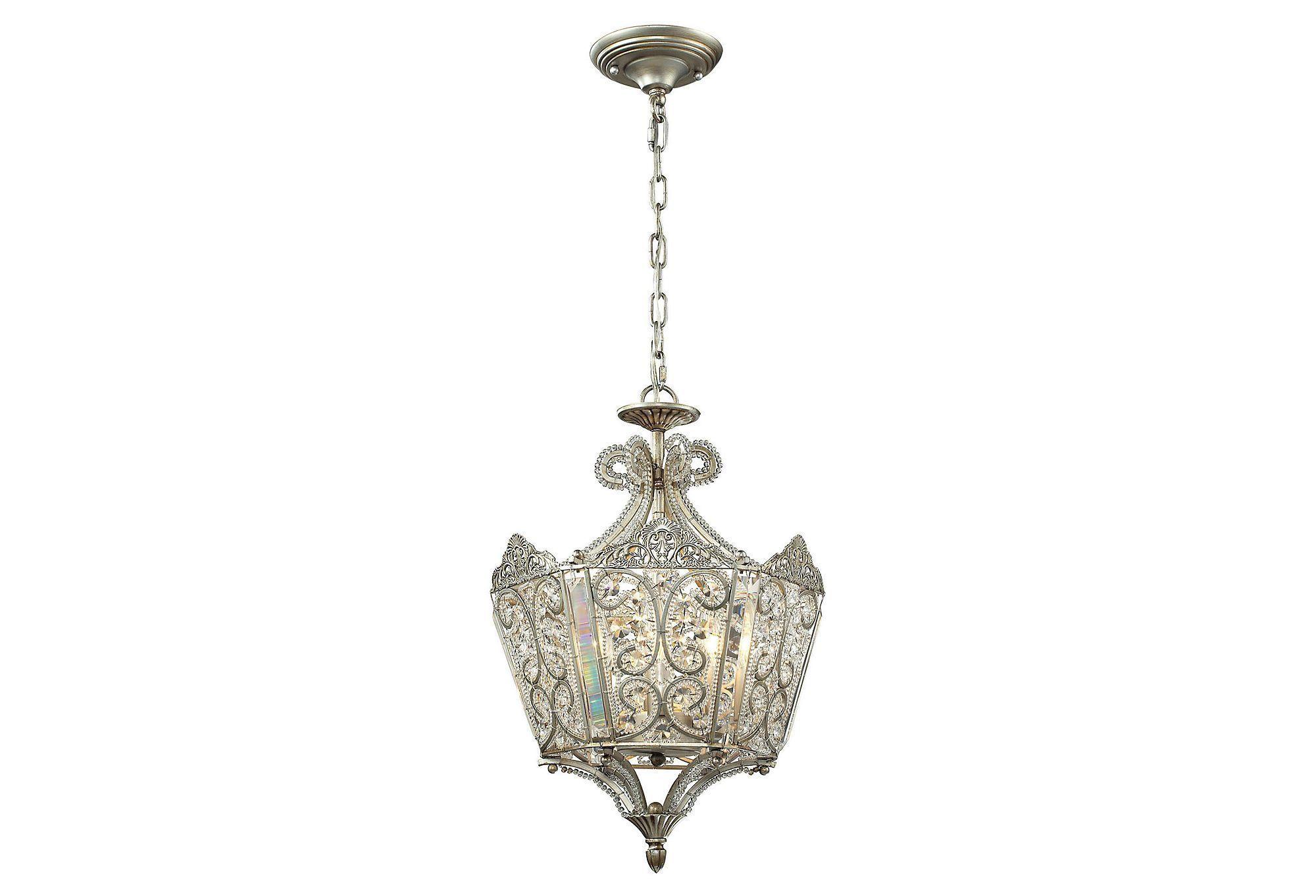 Light victorian pendant silver one kings lane lighting
