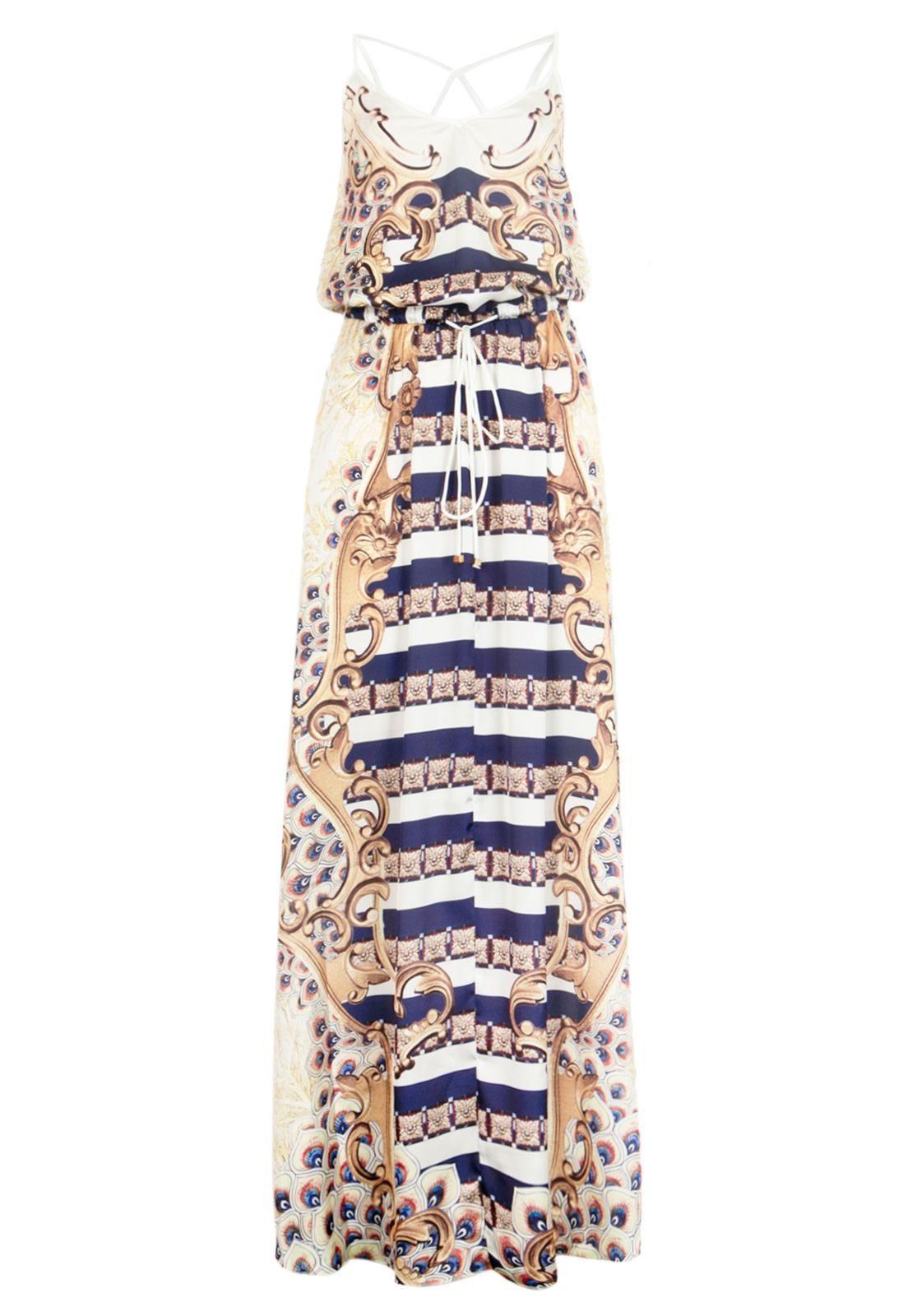 55ed01037f Vestido Longo Triton Cult Branco - Compre Agora