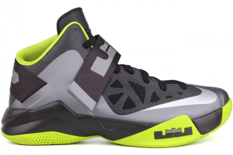 Nike Unisex's Basketball Shoes Air Zoom Soldier Anthracite / White - Green - Grey