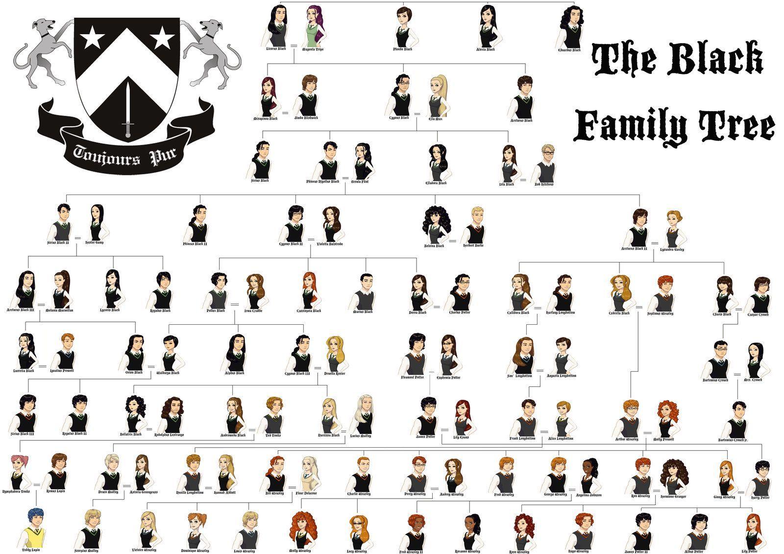 Family Tree Harry Potter Harry Potter Family Tree Family Tree Harry Potter Fan Art