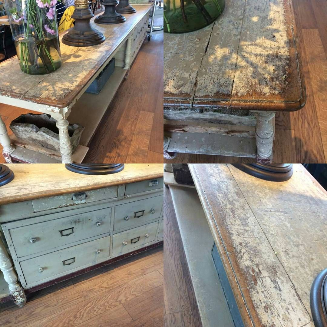 antiques_uk_the_stableExtra long antique pine work top ...