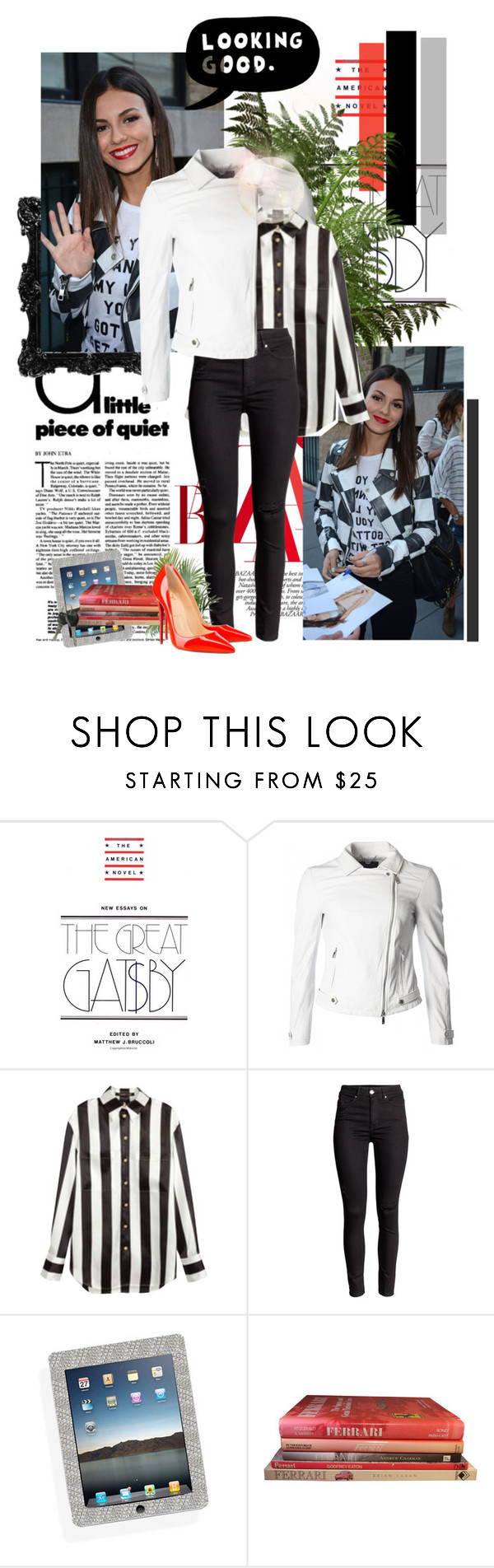 """""""love is louder the the pressure to be perfect - victoria justice"""" by nicole-s-t-u-l ❤ liked on Polyvore featuring Giorgio Armani, Balmain, Ferrari, Christian Louboutin, ESPRIT, women's clothing, women, female, woman and misses"""