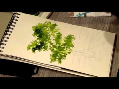 Peindre Un Arbre De Forme Irreguliere A L Aquarelle Peintures