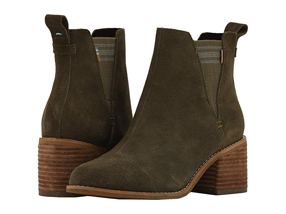 TOMS Esme Tarmac Olive Suede Womens Zip Boots With every pair of shoes you purchase TOMS will give a new pair of shoes to a child in need One for One The versatile style...