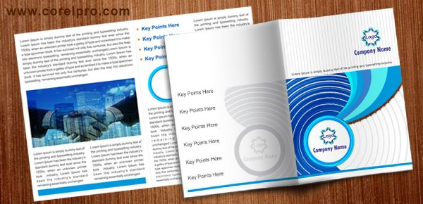 A4 Brochure Template For Free Download In Corel Draw Format Version