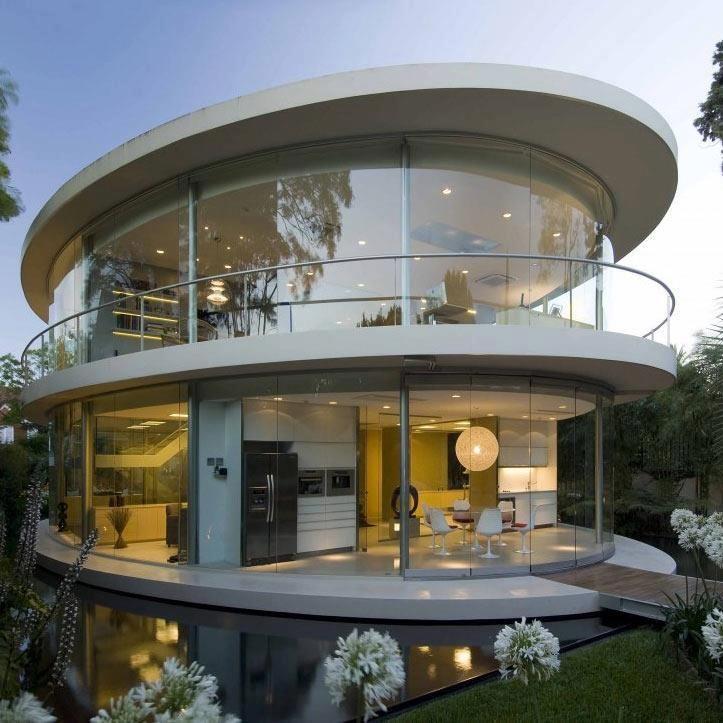 Retro Futuristic House Round House Futuristic Home Architecture