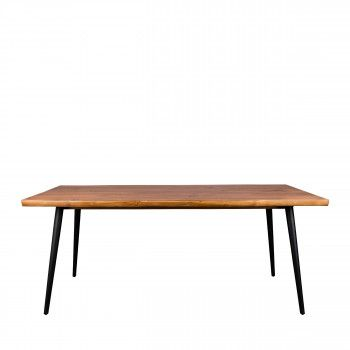 Table à manger en noyer 220x90cm Alagon Dutchbone Meuble Pinterest