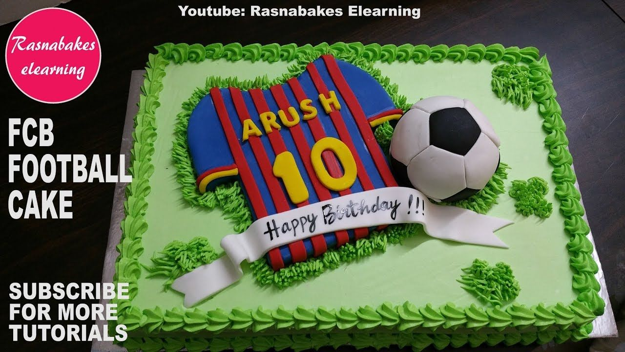 F C Barcelona Football Kids Birthday Cake Video Youtube With