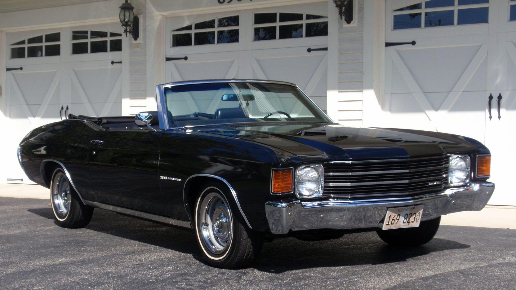 1972 Chevy Malibu Convertible Voiture Les Legendaires