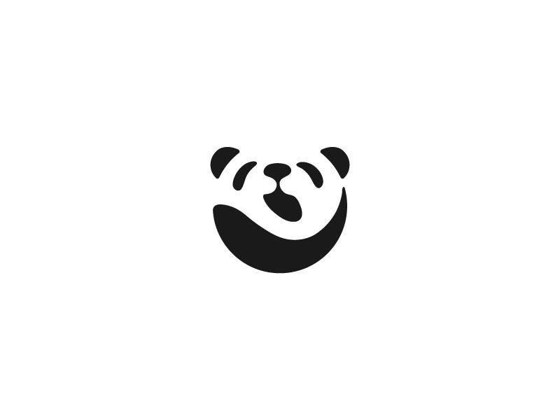 Yawning Panda | Negative space, Pandas and Panda