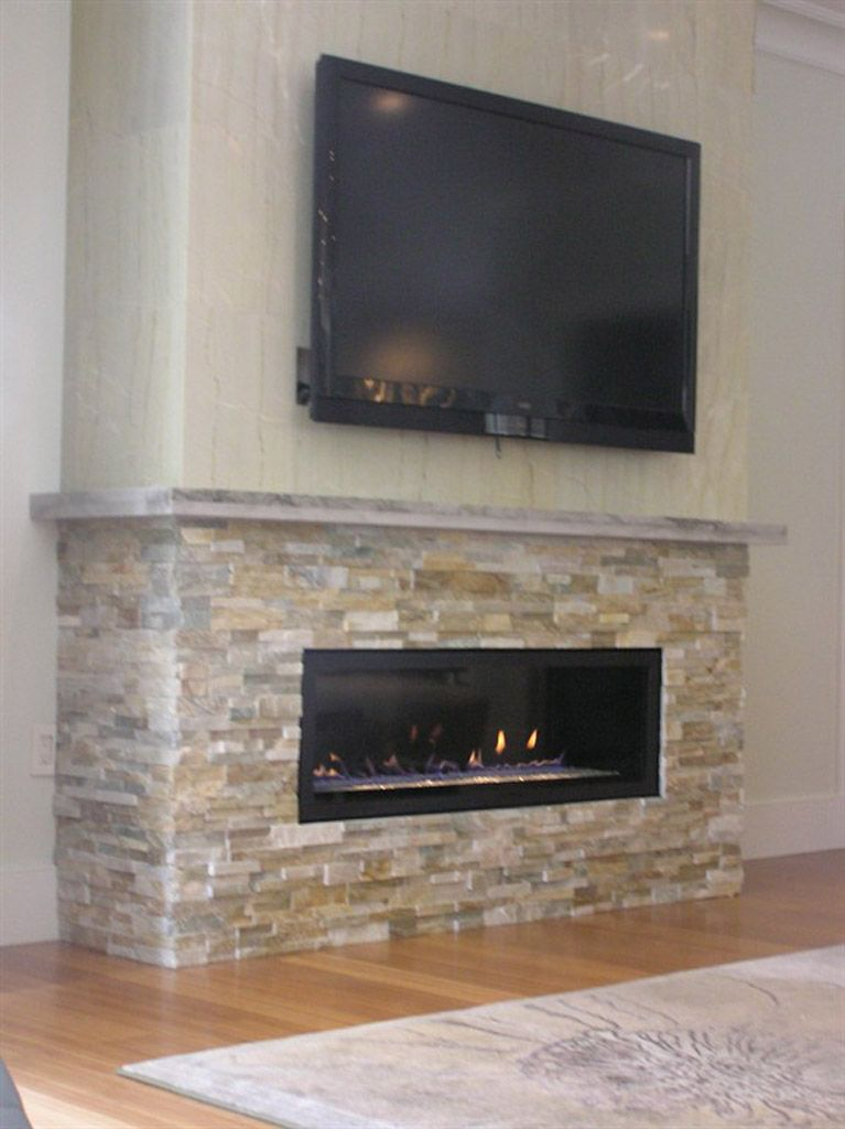 gas direct vent fireplace with stone veneer. like the stone colour, but  black fireplace - Gas Direct Vent Fireplace With Stone Veneer. Like The Stone Colour