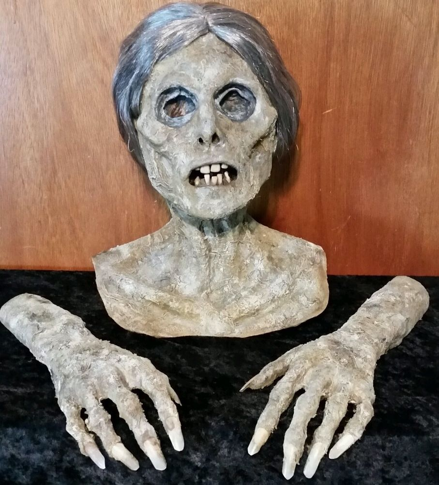 Life Size Rotted Zombie Corpse Head Amp Hands Halloween
