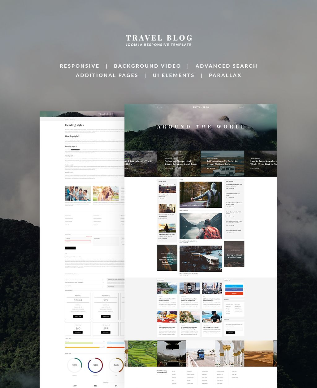 TravelBlog - Travel Guide Joomla Template | Template, Font search ...