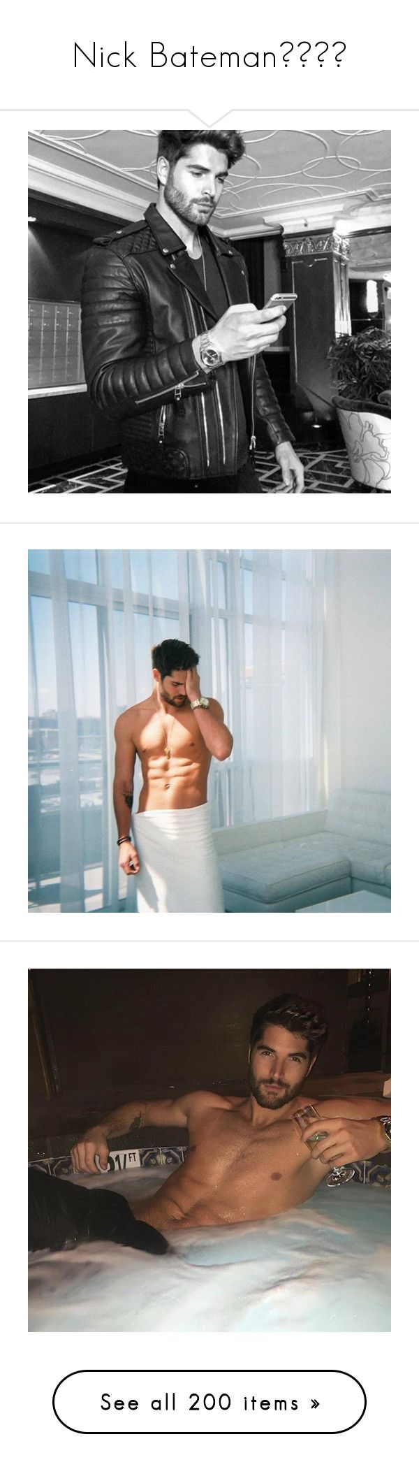 """""""Nick Bateman"""" by austinsmango-96 ❤ liked on Polyvore featuring nick bateman, photos, people, jewelry, him, boys, home, home decor and earrings"""